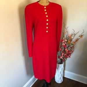 Stylish Red❤️ St John Collection Sweater Dress